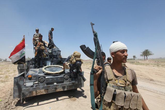 Iraqi security forces gather near Falluja, Iraq, May 31, 2016. (Photo by Alaa Al-Marjani/Reuters)