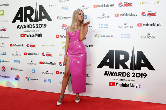 Pop singer Samantha Jade arrives for the 33rd Annual ARIA Awards 2019 at The Star on November 27, 2019 in Sydney, Australia. (Photo by Mark Metcalfe/Getty Images)
