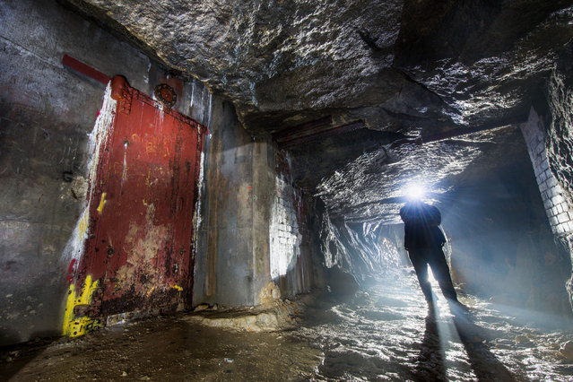 Box Freestone Mine, Wiltshire, U.K. This picture shows how derelict the Mine has become since it's closure. (Photo by Mike Deere/Caters News)