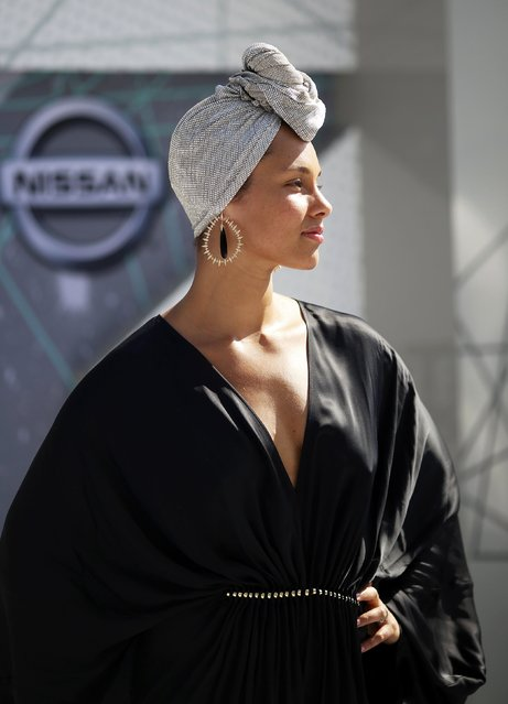 Singer Alicia Keys arrives at the 2016 BET Awards in Los Angeles, California U.S. June 26, 2016. (Photo by David McNew/Reuters)