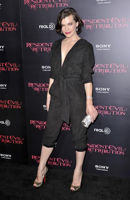 Milla Jovovich. Resident Evil: Retribution - Los Angeles Premiere - Arrivals. Los Angeles, California - 12.09.12. Mandatory Credit: Apega/WENN.com