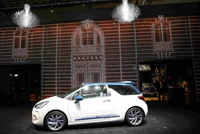 Citroen DS 3 is pictured during the media day at the Frankfurt Motor Show (IAA) in Frankfurt, Germany, September 15, 2015. (Photo by Kai Pfaffenbach/Reuters)