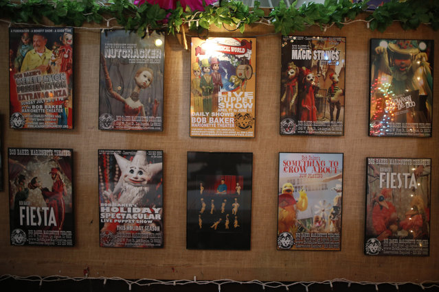 Posters advertising shows at the Bob Baker Marionette Theater in its lobby in Los Angeles, California October 17, 2014. (Photo by Lucy Nicholson/Reuters)