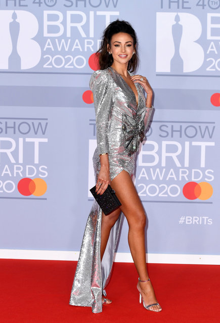 English actress Michelle Keegan attends The BRIT Awards 2020 at The O2 Arena on February 18, 2020 in London, England. (Photo by Gareth Cattermole/Getty Images)