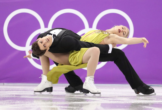 Canada' s Piper Gilles and Canada' s Paul Poirier compete in the ice dance free dance of the figure skating event during the Pyeongchang 2018 Winter Olympic Games at the Gangneung Ice Arena in Gangneung on February 20, 2018. (Photo by Lucy Nicholson/Reuters)