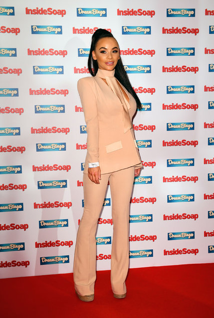 Chelsee Healey attending the Inside Soap Awards 2016 held at The Hippodrome Casino in London, Monday October 3, 2016. (Photo by Ian West/PA Wire)
