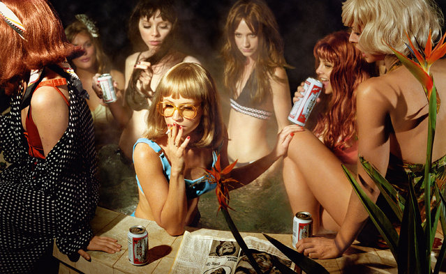 The American artist's work encompasses fashion, photography and film with characteristically vivid colour and unsettling theatricality. Here: The Big Valley, Susie and Friends, 2008. (Photo by Alex Prager Studio/Lehmann Maupin Gallery)