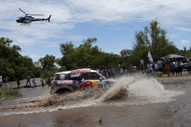 Mini driver Nasser Al-Attiyah of Qatar drives during the 11th stage of the Dakar Rally 2015 from Cachi to Termas de Rio Hondo January 15, 2015. (Photo by Jean-Paul Pelissier/Reuters)