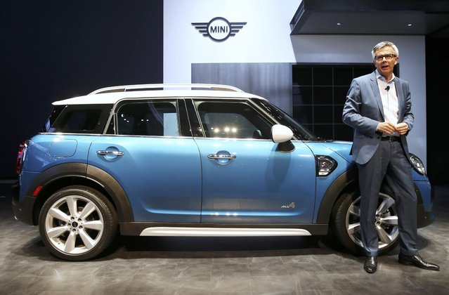 Peter Schwarzenbauer, memeber of the Board of Management of BMW AG, introduces the 2017 Mini Countryman, all-wheel drive version, at the 2016 Los Angeles Auto Show in Los Angeles, California, U.S November 16, 2016. (Photo by Lucy Nicholson/Reuters)