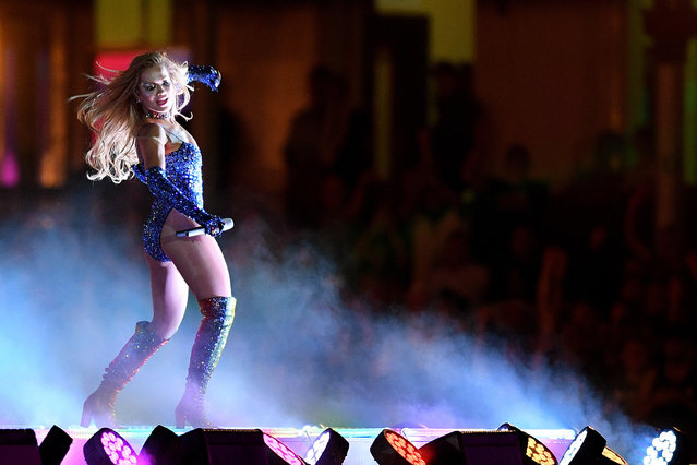 British singer Rita Ora performs during the 43rd annual Gay and Lesbian Mardi Gras parade at the SCG in Sydney, Australia, 06 March 2021. (Photo by Dan Himbrechts/EPA/EFE)