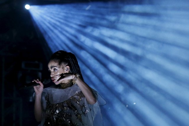 FKA twigs of Britain performs at the Coachella Valley Music and Arts Festival in Indio, California April 11, 2015. (Photo by Lucy Nicholson/Reuters)