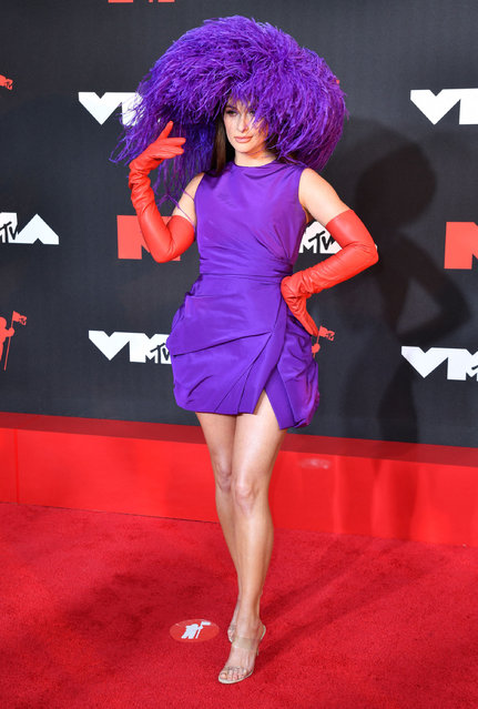 US singer-songwriter Kacey Musgraves arrives for the 2021 MTV Video Music Awards at Barclays Center in Brooklyn, New York, September 12, 2021. (Photo by Angela Weiss/AFP Photo)