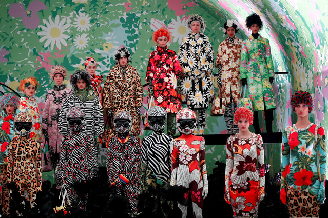 Models present creations by Moncler Genius during Milan Fashion Week in Milan, Italy February 20, 2019. (Photo by Alessandro Garofalo/Reuters)
