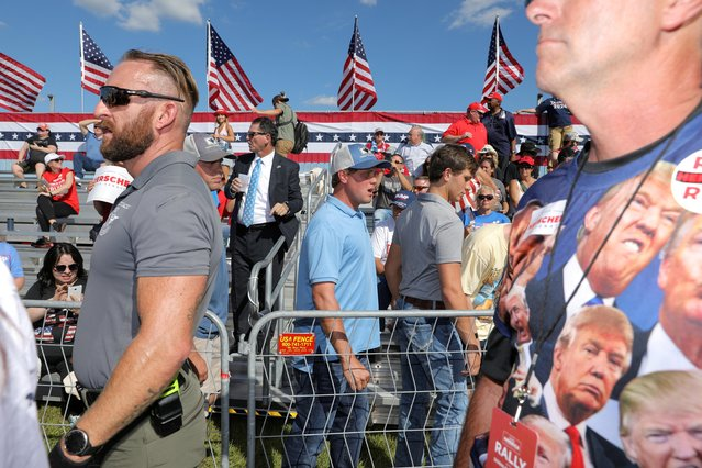 Supporter of former U.S. President Donald Trump attend a rally in Perry, Georgia, U.S. September 25, 2021. (Photo by Dustin Chambers/Reuters)