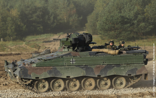 A Marder infantry combat vehicle of the German Bundeswehr