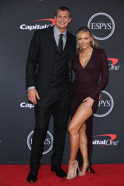 Rob Gronkowski and Camille Kostek attend The 2019 ESPYs at Microsoft Theater on July 10, 2019 in Los Angeles, California. (Photo by Phillip Faraone/FilmMagic)