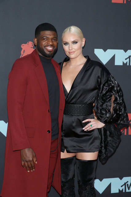 P. K. Subban and Lindsey Vonn attend the 2019 MTV Video Music Awards at Prudential Center on August 26, 2019 in Newark, New Jersey. (Photo by Jim Spellman/FilmMagic)