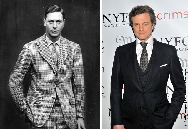 1924: Duke of York (1895 - 1952), later King George VI, poses in 1924; Actor Colin Firth attends the 2010 New York Film Critics Circle Awards at Crimson on January 10, 2011 in New York City