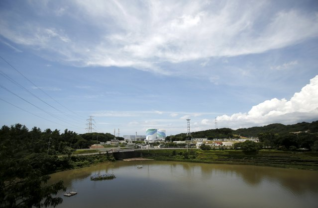 No.1 (L) and No.2 reactor buildings are pictured at Kyushu Electric Power's Sendai nuclear power station in Satsumasendai, Kagoshima prefecture, Japan, July 8, 2015. (Photo by Issei Kato/Reuters)