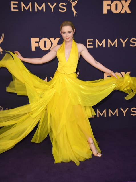 Actress Kathryn Newton arrives for the 71st Emmy Awards at the Microsoft Theatre in Los Angeles on September 22, 2019. (Photo by Robyn Beck/AFP Photo)