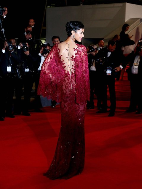 """Sonia Rolland attends the """"Timbuktu"""" premiere during the 67th Annual Cannes Film Festival on May 15, 2014 in Cannes, France. (Photo by Vittorio Zunino Celotto/Getty Images)"""
