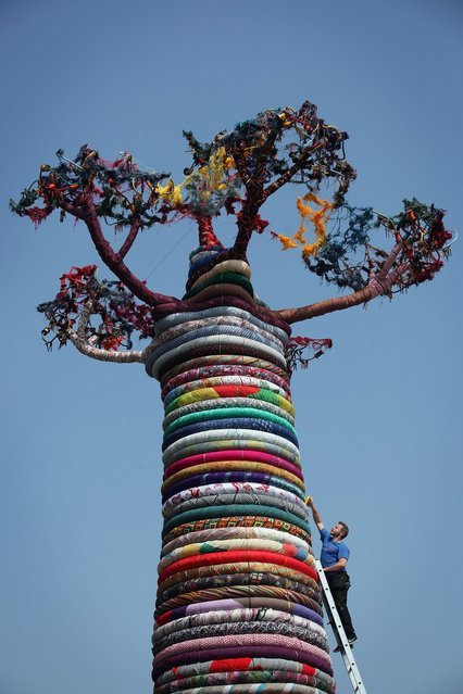 "The Pirate Technics Sculpture ""Under The Baobab""  by Mike De Butts Is Installed At The Southbank Centre"