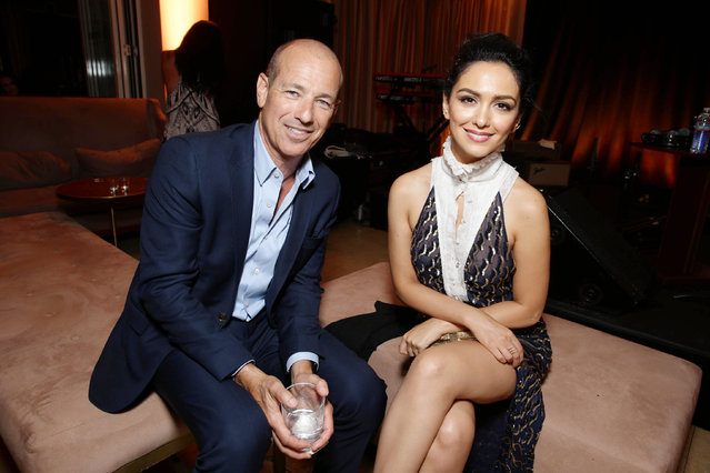 """Homeland"" Executive Producer Howard Gordon and Nazanin Boniadi seen at Showtime's Emmy Eve 2015 at Sunset Tower Hotel on Saturday, September 19, 2015, in Los Angeles, CA. (Photo by Eric Charbonneau/Invision for Showtime/AP Images)"