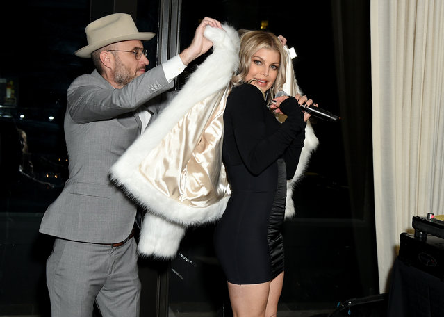 Andy Boose and Fergie attend the CR Fashion Book Celebrating launch of CR Girls 2018 with Technogym at Spring Place on December 12, 2017 in New York City. (Photo by Mike Coppola/Getty Images for Carine Roitfeld)