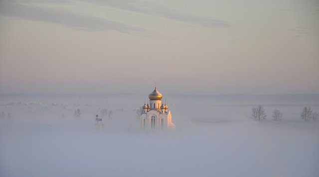 """Christmas temple"". (Photo by Evgenij Kuzin)"
