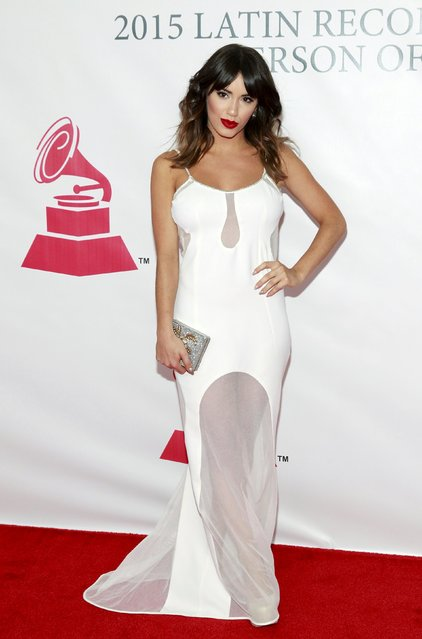 Lali Esposito arrives at the 2015 Latin Recording Academy Person of the Year Tribute to Roberto Carlos in Las Vegas, Nevada November 18, 2015. (Photo by Steve Marcus/Reuters)