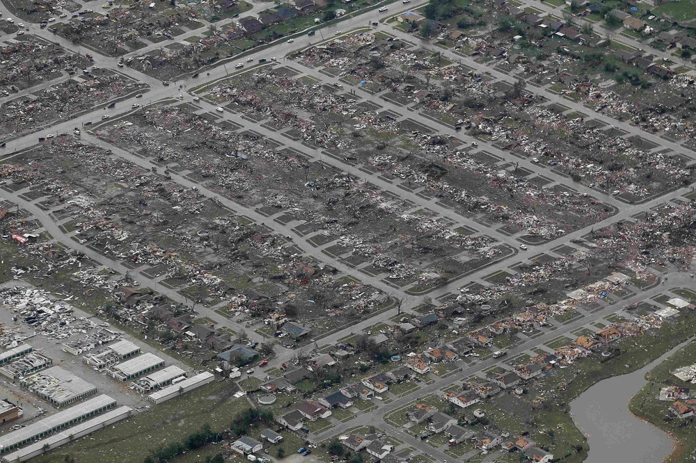 Oklahoma Residents Return to Survey Tornado Damage