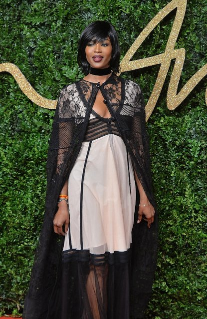 Naomi Campbell attends the British Fashion Awards 2015 at London Coliseum on November 23, 2015 in London, England. (Photo by Anthony Harvey/Getty Images)
