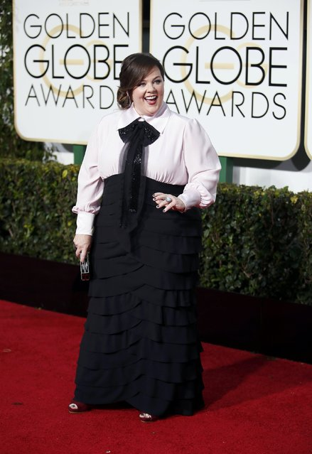 Actress Melissa McCarthy arrives at the 72nd Golden Globe Awards in Beverly Hills, California January 11, 2015. (Photo by Danny Moloshok/Reuters)