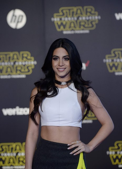 "Actress Emeraude Toubia arrives at the premiere of ""Star Wars: The Force Awakens"" in Hollywood, California December 14, 2015. (Photo by Kevork Djansezian/Reuters)"