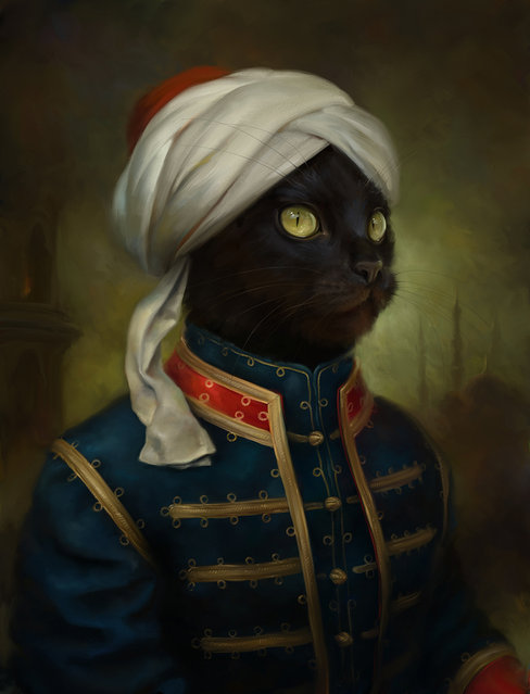 """The Hermitage Court Moor Cat"". (Photo by Eldar Zakirov)"