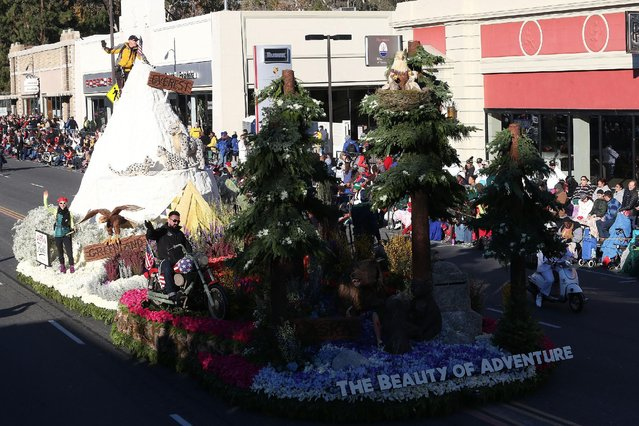 The Kiehl's Since 1951 float winner of the Crown City Innovation Award on the parade route during the 127th Tournament of Roses Parade Presented by Honda on January 1, 2016 in Pasadena, California. (Photo by Frederick M. Brown/Getty Images)