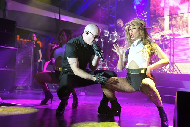 Rapper Pitbull performs onstage during Nickelodeon's celebration of the new Burbank facility on January 11, 2017 in Los Angeles, California. (Photo by Charley Gallay/Getty Images for Nickelodeon)