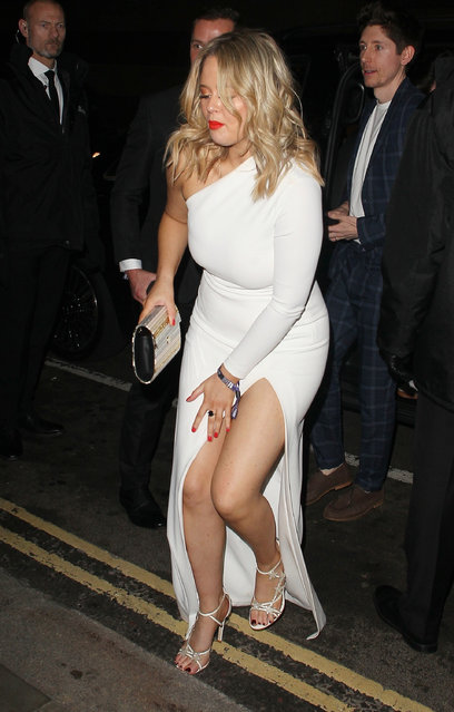 Emily Atack seen attending the Sony Music BRITS 2019 After Party at The Shard on February 20, 2019 in London, England. (Photo by BackGrid)