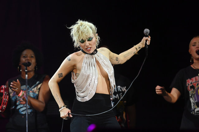 Miley Cyrus performs onstage during the 2021 Music Midtown festival at Piedmont Park on September 19, 2021 in Atlanta, Georgia. (Photo by Paras Griffin/Getty Images for MC)
