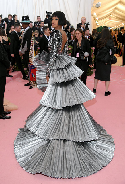 Ella Balinska attends The 2019 Met Gala Celebrating Camp: Notes on Fashion at Metropolitan Museum of Art on May 06, 2019 in New York City. (Photo by Neilson Barnard/Getty Images)