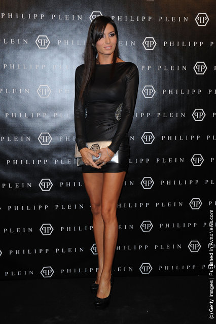 Elisabetta Gregoraci attends the Philipp Plein Urban Jungle Spring/Summer 2012 fashion show as part Milan Womenswear Fashion Week