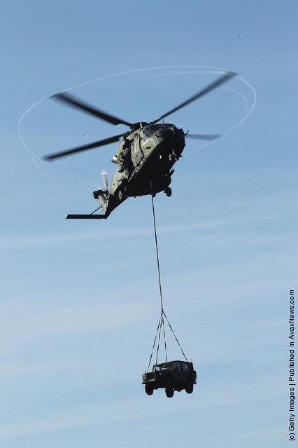 An NH 90 all-purpose helicopter of the German Bundeswehr