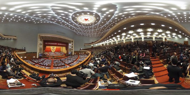 A general view of the opening ceremony of the Chinese People's Political Consultative Conference (CPPCC) at The Great Hall of People on March 3, 2017 in Beijing, China. (Photo by Lintao Zhang/Getty Images)