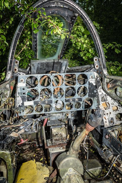 There are still a few rusting remains of MIG fighters on the site. (Photo by Thomas Windisch/Exclusivepix Media)