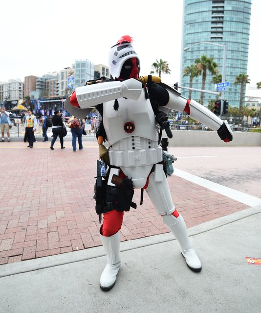 A general view of atmosphere at Comic-Con International 2015 at the San Diego Convention Center on July 8, 2015 in San Diego, California. (Photo by Michael Buckner/Getty Images)