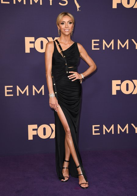 TV host Giuliana Rancic arrives for the 71st Emmy Awards at the Microsoft Theatre in Los Angeles on September 22, 2019. (Photo by Robyn Beck/AFP Photo)