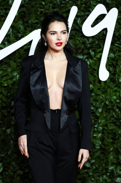 Model Doina Ciobanu arrives at The Fashion Awards 2019 held at Royal Albert Hall on December 02, 2019 in London, England. (Photo by Lisi Niesner/Reuters)