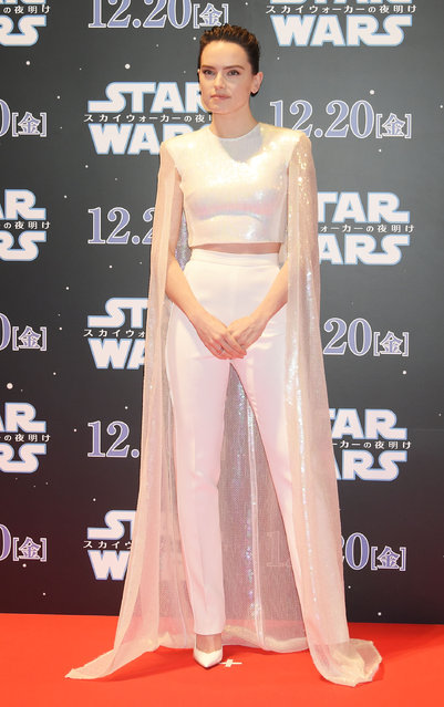 "Daisy Ridley  attends the special fan event for ""Star Wars: The Rise of Skywalker"" at Roppongi Hills on December 11, 2019 in Tokyo, Japan. (Photo by Jun Sato/WireImage)"