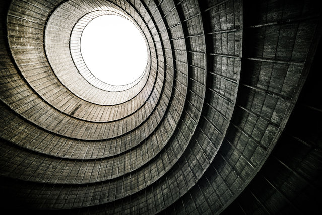 This stunning picture shows the inside of a cooling tower. (Photo by Mike Deere/Caters News)