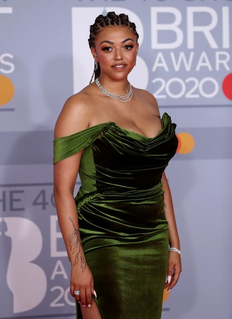 Mahalia poses as she arrives for the Brit Awards at the O2 Arena in London, Britain, February 18, 2020. (Photo by Simon Dawson/Reuters)